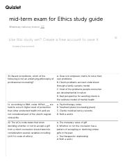 mid-term exam for Ethics study guide Flashcards | Quizlet