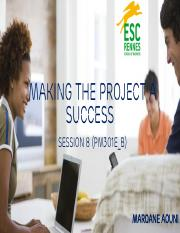 PM301E_B - Making the Project a success S8