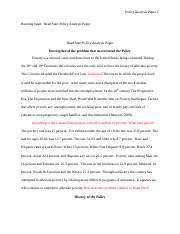 Head Start Policy Analysis Paper