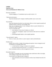 CRM 303 notes