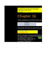 FCF Chapter 16 Excel Master student