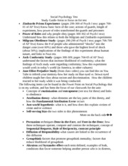 Social Psychology_study guide for Test