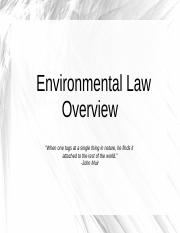 Enviro Law Overview - Part 1.pptx