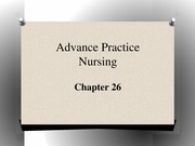 Advance Practice Nursing Roles SU 2014