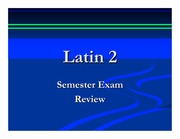 Latin 2 Semester Review