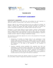 Teaching Note - Opportunity Assessment.pdf