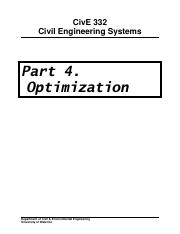 Student Version of CIVE 332 Course Notes-Part 4 Optimization v5cth.pdf
