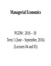 Lecture 4 and 5  - Market forces of Demand and Supply_PGDM.pptx