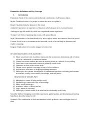 Humanities Definitions and Key Concepts.docx