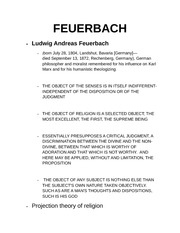 Feuerbach notes