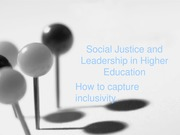 Social Justice and Leadership in Higher Education
