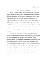the leadership traits lecture successful in life of all of 1 pages cesar chavez essay