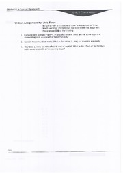Written Assignement Unit  3 - BAM 313 - Financial Management