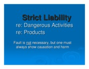 strict liability ppt