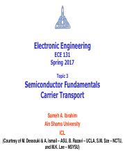 03 - ECE131 - S17 - Semiconductor Fundamentals - Carrier Transport.pdf