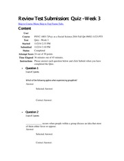 Review Test Submission Week 3 quiz