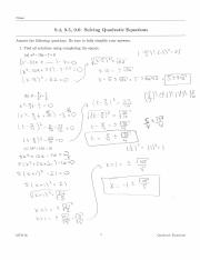9.4 Worksheet Solutions
