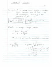 ECE 201 - Handnotes - Lecture 15 - Inductors and Inductance - F11