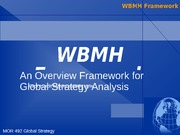 4 WBMH Framework for Global Strategy Analysis