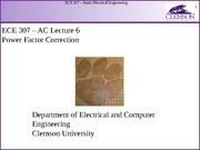 ECE 307 AC Lecture 6 - Power Factor Correction