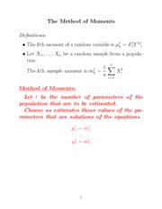 stat231 method_of_moments