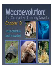 Spring 2016 Lecture 27 Macro 4_The origin of evolutionary novelty