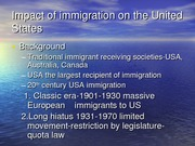 Impact of immigration on the United States