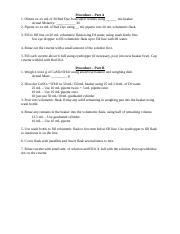 Intro Chem II Lab Skills Procedure
