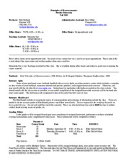 Syllabus Econ 252 Fall 20090