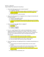 MGT 401 Sample MC Questions for Exam 2