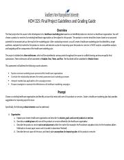 Final Project Guidelines and Rubric