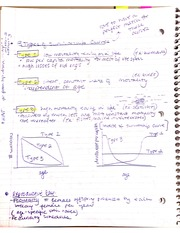 Survivorship Curves Notes