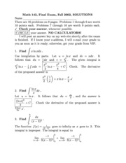 Exam Solutions (9)