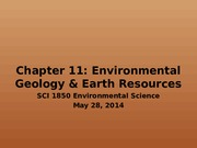 Chapter 11 Envrionmental Geology and Earth Resources.pptx