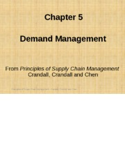 Chapter 05 Demand Management PSCM2E