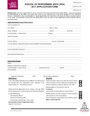 SPA Application Form 2017