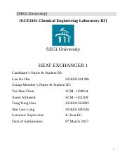 Experiment2 Heat Exchanger 1 by Lau Ka Hin