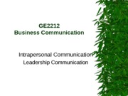 Contemporary Business Communication_class 3 leadership communication