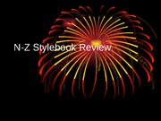 AP Stylebook Review N-Z
