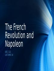 Lecture 14 - The French Revolution and Napoleon