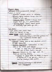Class notes, Cellular Theories