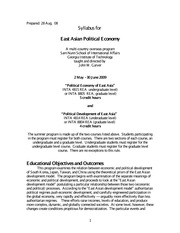 East Asian Political Economy