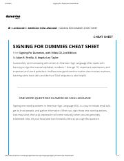 Signing For Dummies Cheat Sheet