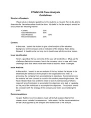 COMM 414 Case Analysis Guidelines