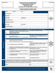Vacant Building Response form, Blank