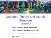 2. Quantum Theory and Atomic Structure