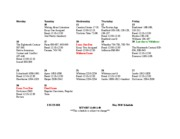 May 2011 Schedule