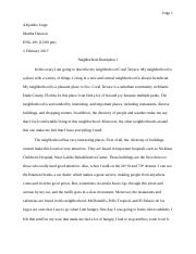 Neighborhood Description 1 & 2.docx