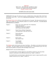 MGSC_395__Fall 2011 (Dr Ahire Sections) - EXAM 1-STUDY GUIDE