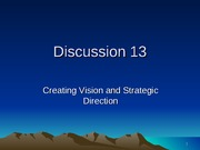 V - Creating Vision Strategic Direct